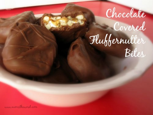Chocolate Covered Fluffernutter Bites