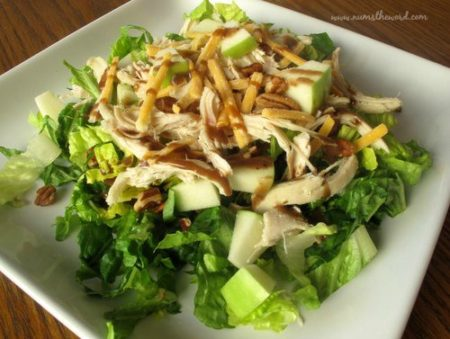 Pecan Chicken and Green Apple Salad