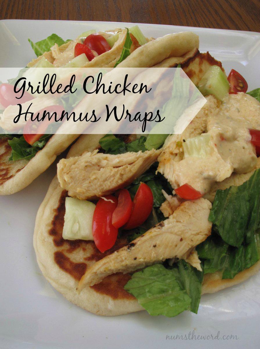 Grilled Chicken Hummus Wraps