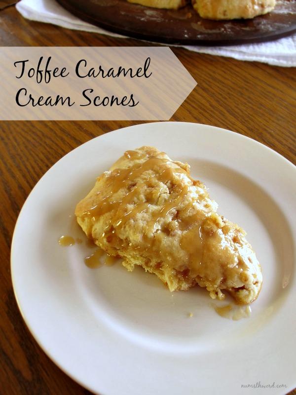 Toffee Caramel Cream Scones