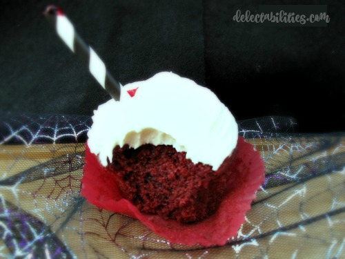 Blood Red Velvet Cupcakes