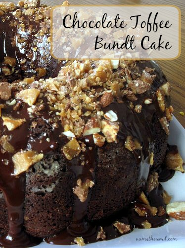 Chocolate Toffee Bundt Cake