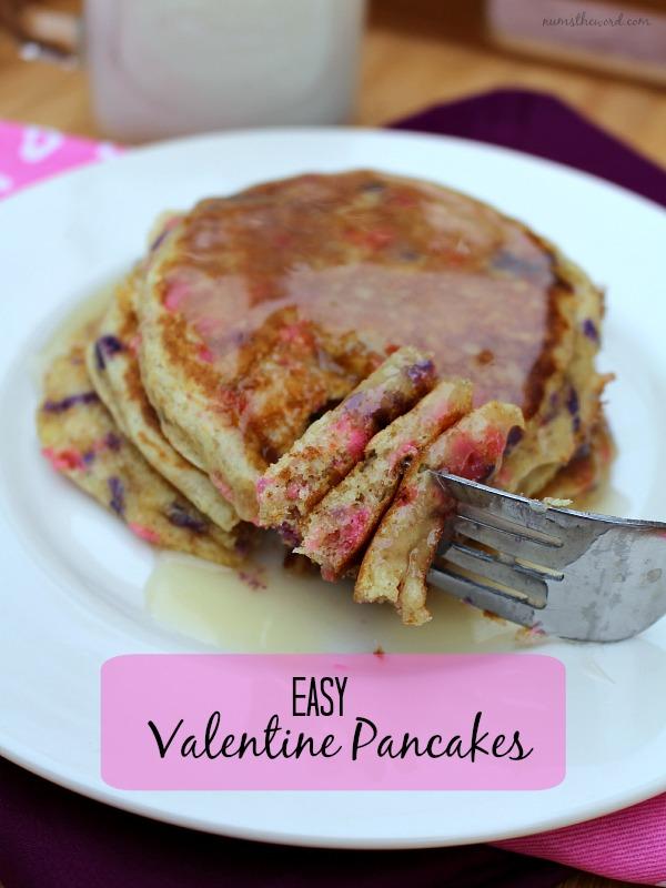Easy Valentine Pancakes