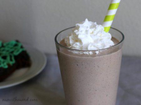 Mint Oreo Brownie Shakes
