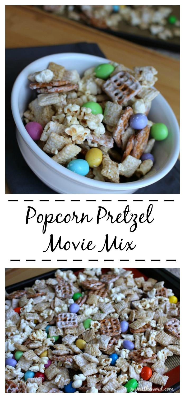 Popcorn Pretzel Movie Mix