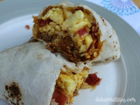 BBQ Bacon Burrito