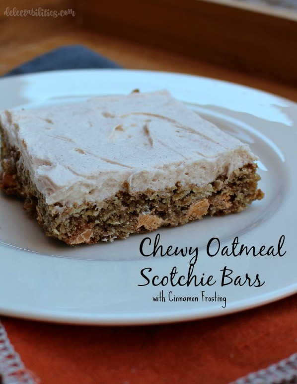 Chewy Oatmeal Scotchie Bars