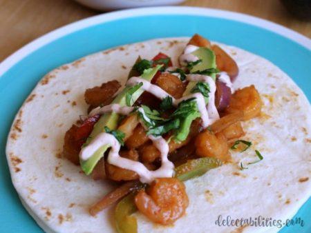 Chipotle Shrimp Fajitas