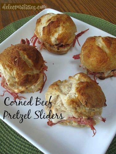Corned Beef Pretzel Sliders