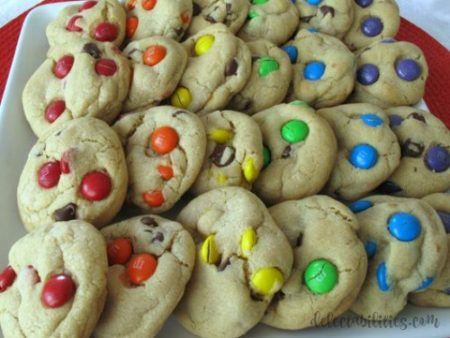 M&M Rainbow Cookies